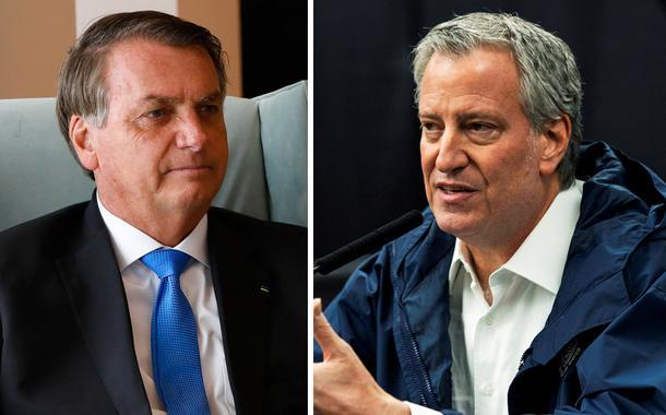 Jair Bolsonaro e Bill De Blasio
