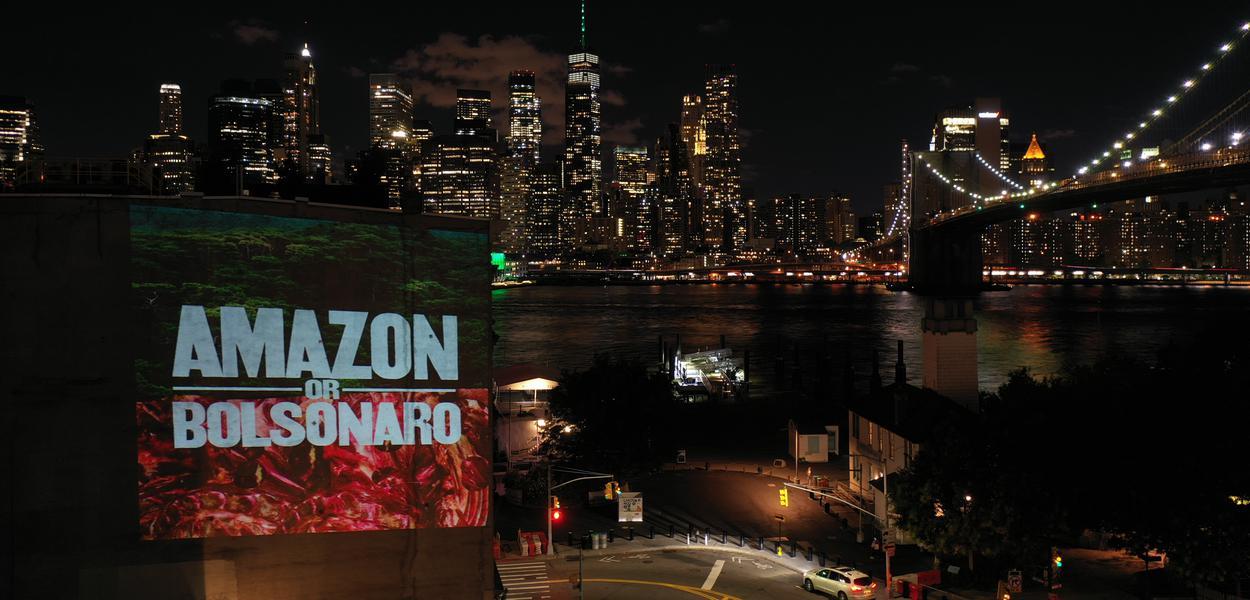 Protestos contra Bolsonaro em Nova York
