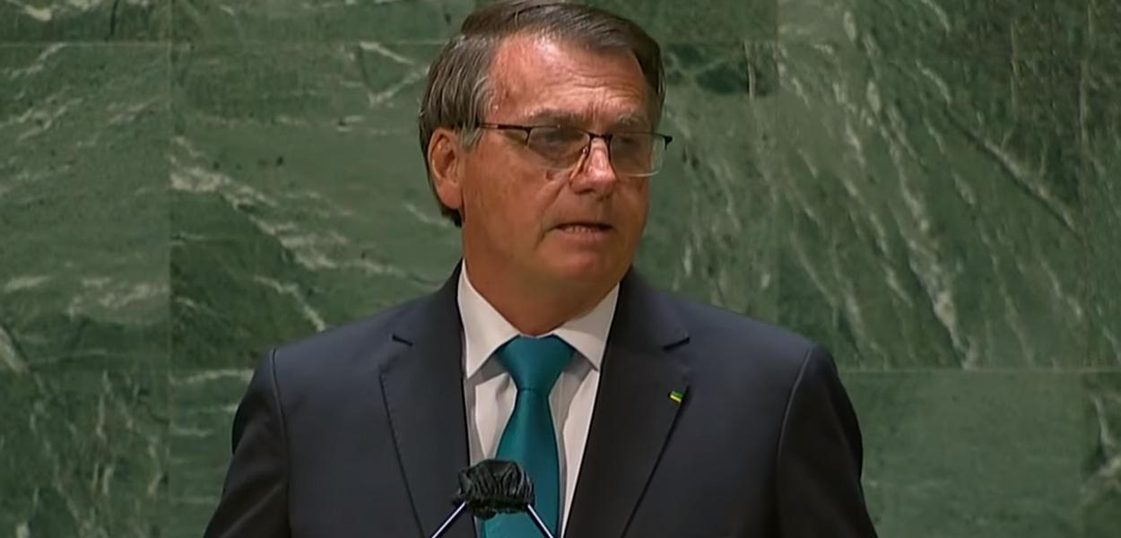 Jair Bolsonaro em discurso na ONU