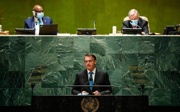 Jair Bolsonaro discursa na abertura do Debate Geral da 76a Sessão da Assembleia Geral das Nações Unidas