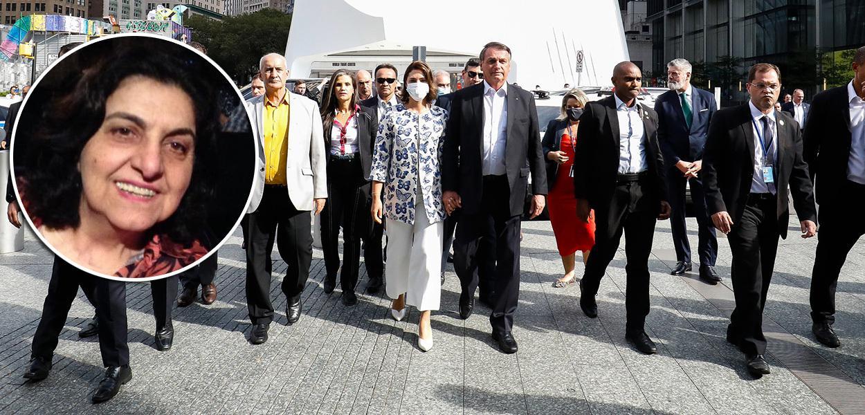 Jornalista Rosângela Bittar e a comitiva presidencial brasileira em Nova York