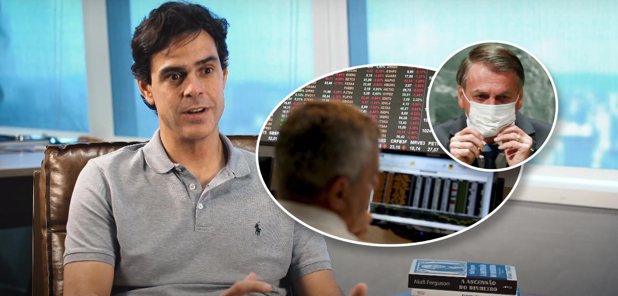 Guilherme Benchimol, dono da XP, e Jair Bolsonaro