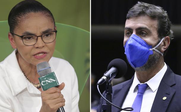 Marina Silva e o deputado federal Marcelo Freixo