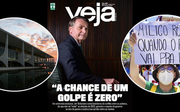 Felipe Neto cancela Veja e diz que a revista é fascista após entrevista chapa branca com Bolsonaro