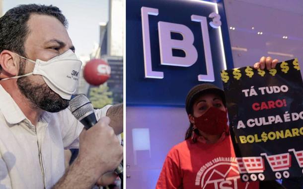 Guilherme Boulos e MTST ocupa Bolsa de Valores de SP