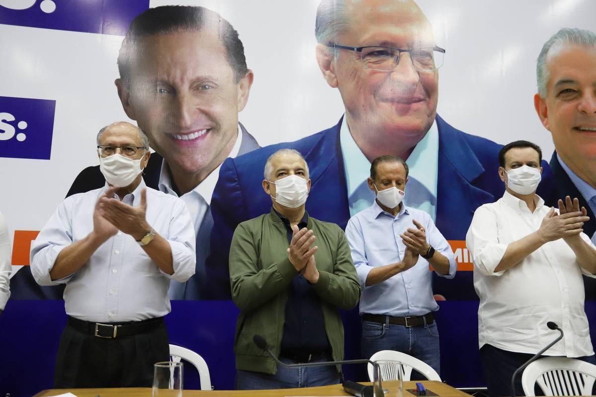 Geraldo Alckmin, Márcio França, Paulo Skaf e Gilberto Kassab