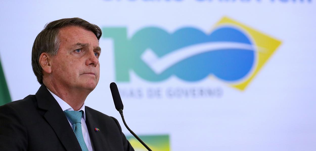 Jair Bolsonaro durante cerimônia dos mil dias de governo