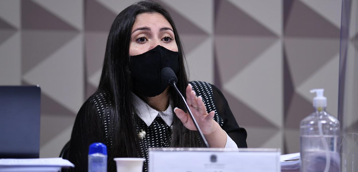 Advogada Bruno Morato na CPI da Covid