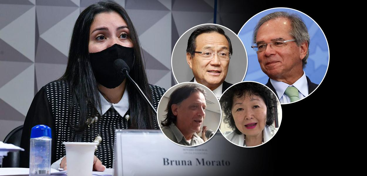 Bruna Morato, Anthony Wong, Paulo Guedes, Paolo Zanotto e Nise Yamaguchi