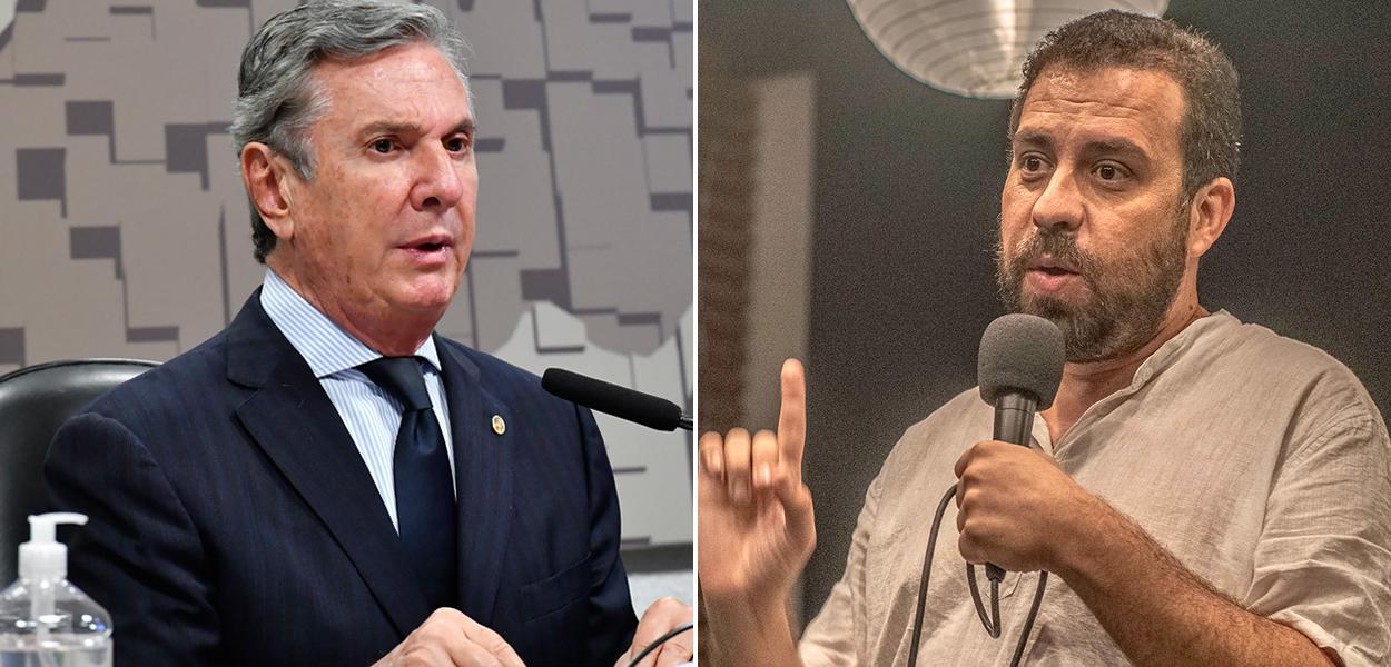 Fernando Collor e Guilherme Boulos