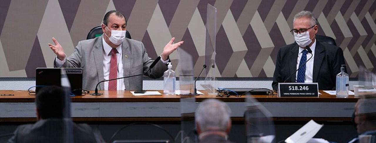 Omar Aziz e Renan Calheiros (presidente e relator da CPI da Covid)