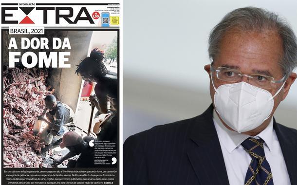 Capa do Extra e Paulo Guedes