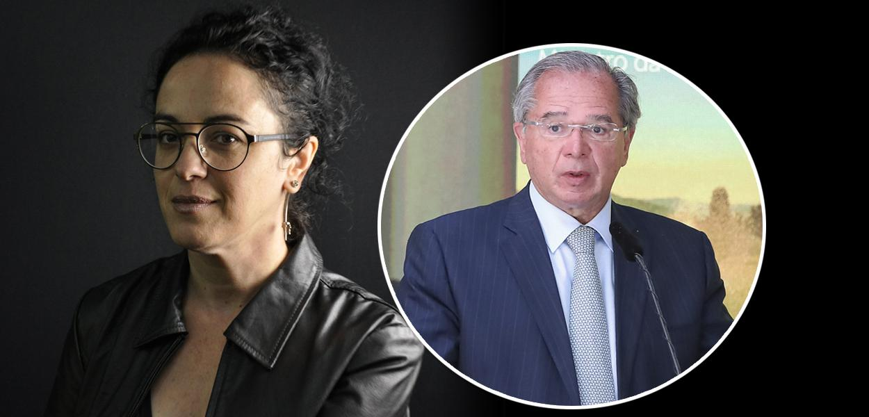 Marcia Tiburi e Paulo Guedes