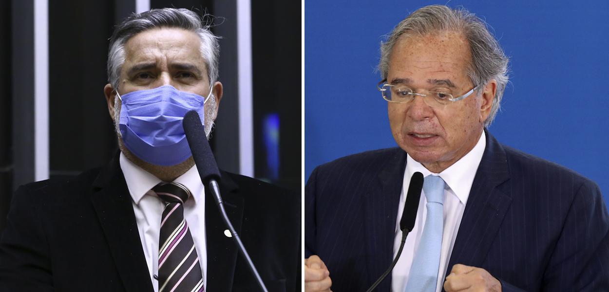 Deputado Paulo Pimenta e o ministro Paulo Guedes