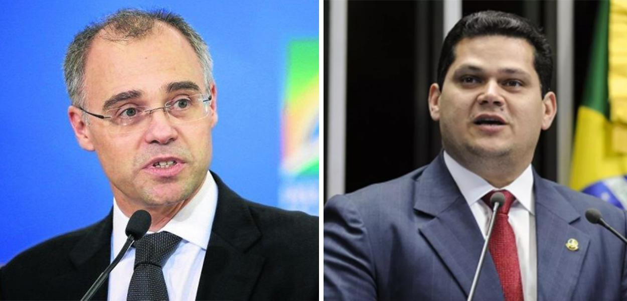 André Mendonça e o senador Davi Alcolumbre