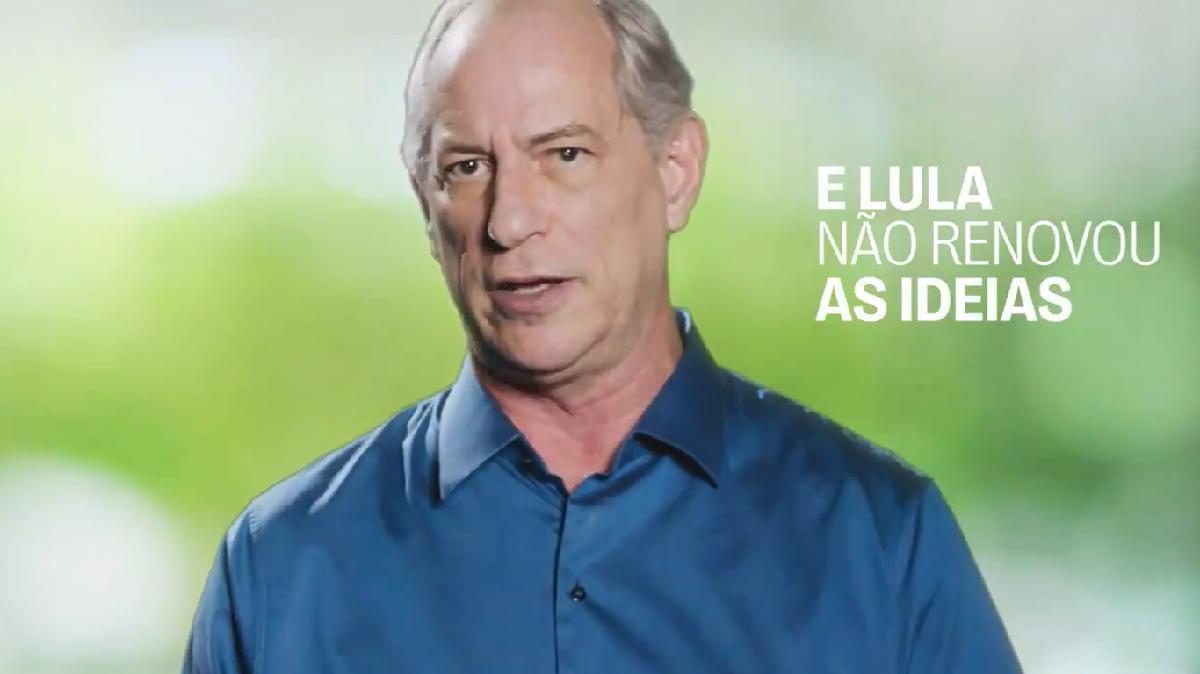 Ciro Gomes em vídeo que ataca Lula