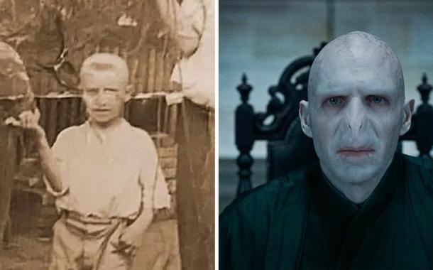 Bolsonaro quando criança e Voldemort