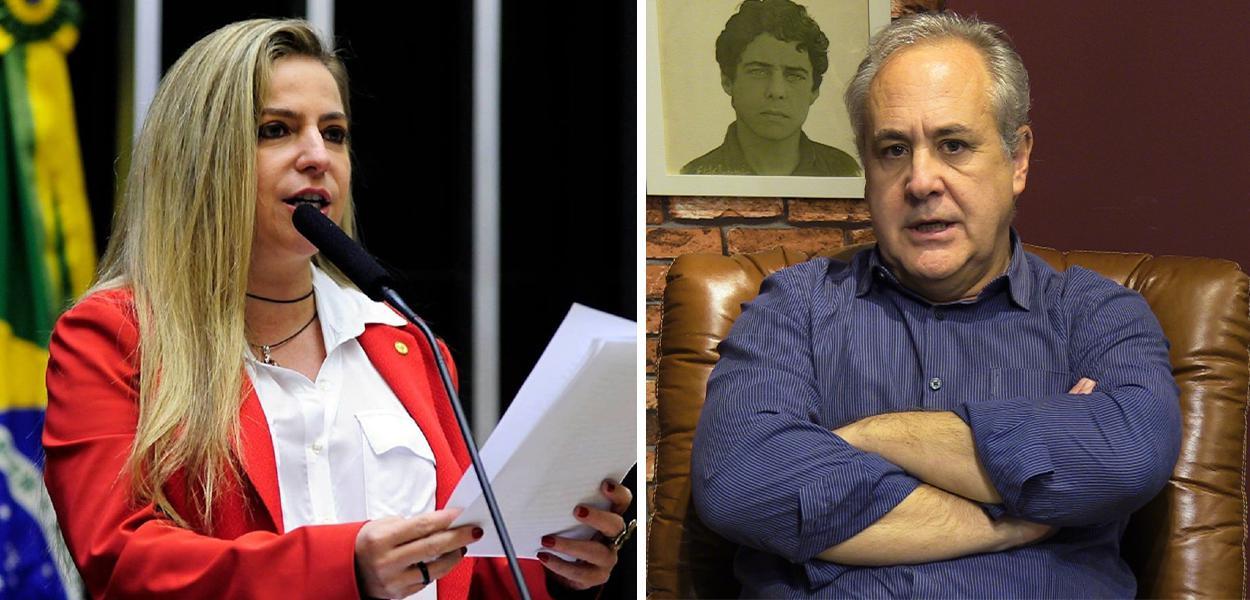 Luizianne Lins e Joaquim de Carvalho