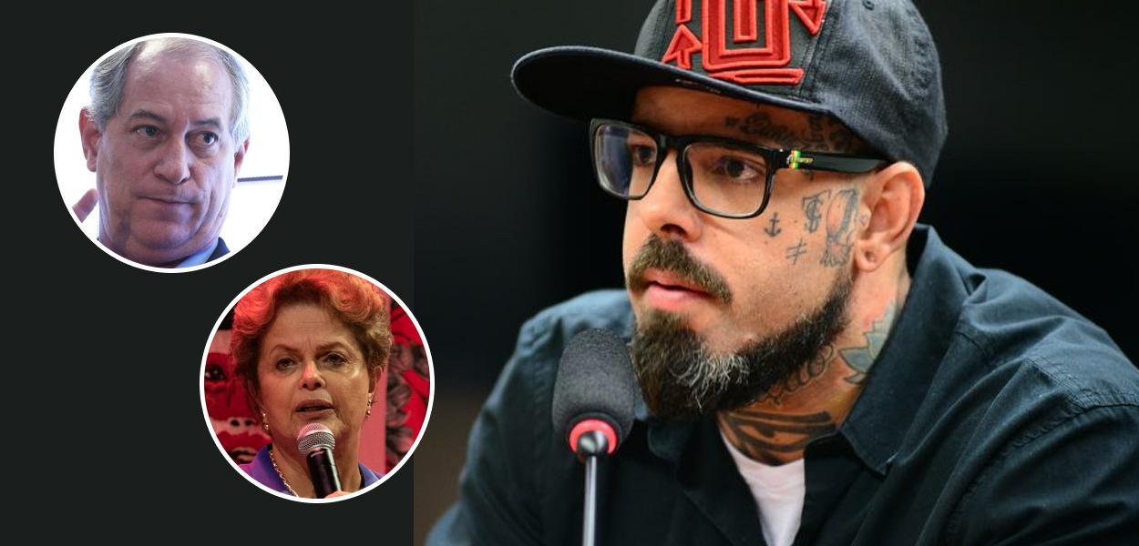 Ciro Gomes, Dilma Rousseff e Tico Santa Cruz