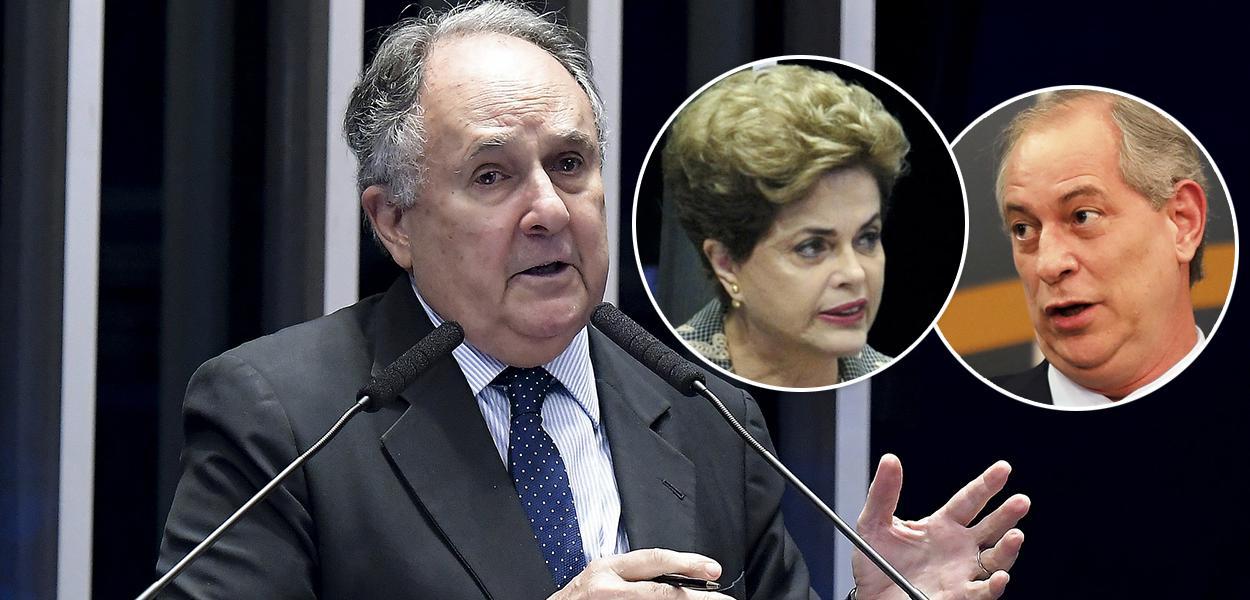Cristovam Buarque, Dilma e Ciro Gomes