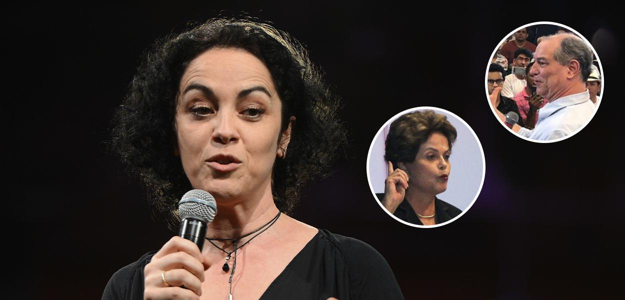 Marcia Tiburi, Dilma Rousseff e Ciro Gomes