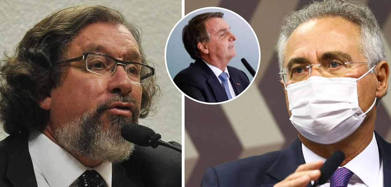 Kakay, Jair Bolsonaro e Renan Calheiros