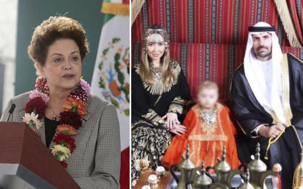 Dilma e Eduardo Bolsonaro com a família em Dubai