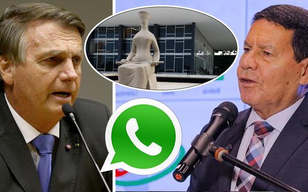 Jair Bolsonaro, Hamilton Mourão, STF e WhatsApp