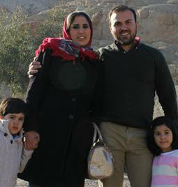 Imprisoned pastor Saeed Abedin with his family.