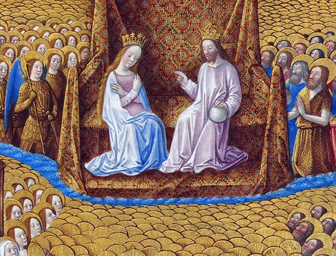 Les Très Riches Heures du duc de Berry, Folio 126r - Paradise - the Musée Condé, Chantilly
