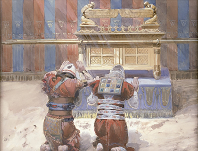 """James Tissot (1836-1902), """"Moses and Joshua in the Tabernacle"""""""