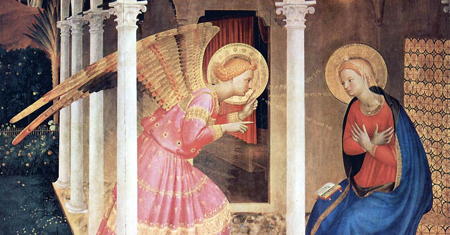 """Fra Angelico (c. 1395–1455), """"The Annunciation"""""""