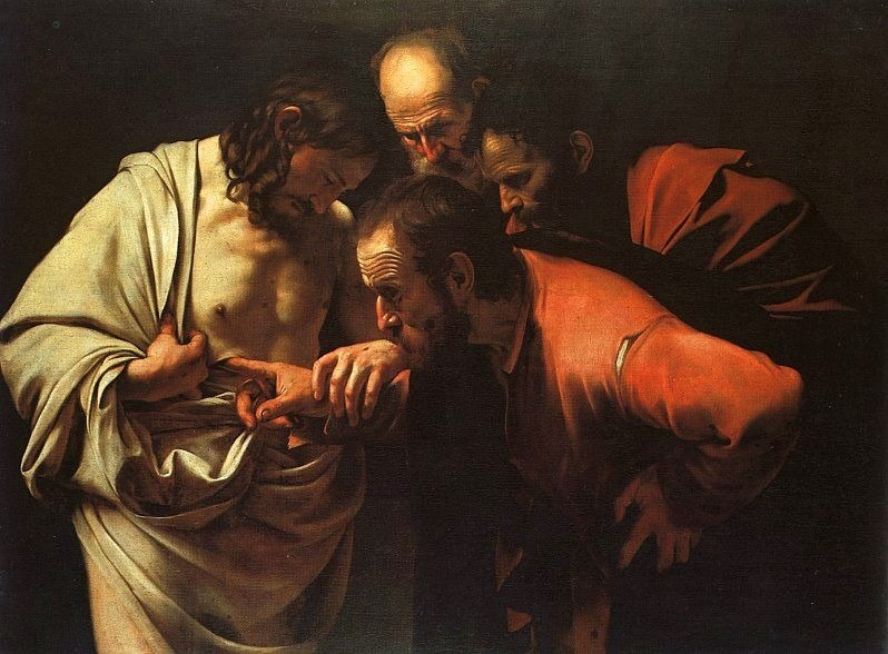The Incredulity of Thomas (Caravaggio, 1602)