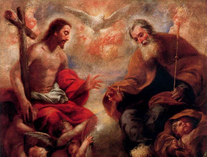 """Francesco Cairo (1607-1665), """"The Holy Trinity"""""""