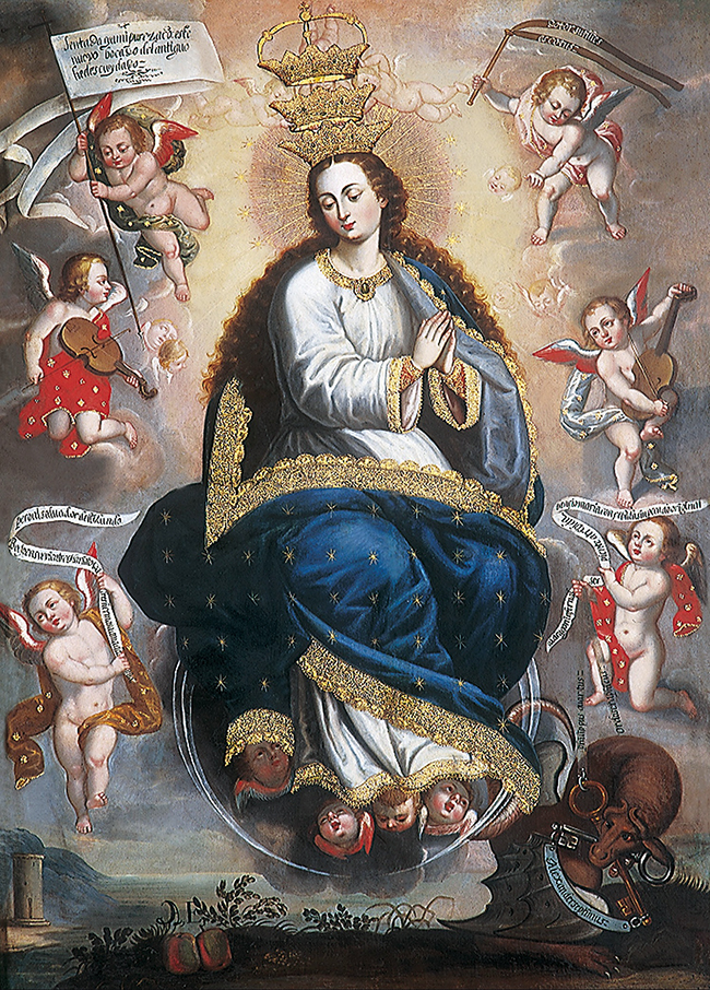"Basilio de Santa Cruz (1661-1696), ""Immaculate Virgin Victorious Over the Serpent of Heresy"""