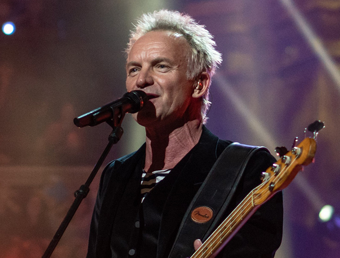 Sting performs at the Royal Albert Hall in 2018.