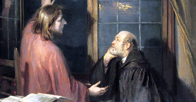 """Fritz von Uhde (1848-1911), """"Christ and Nicodemus"""""""