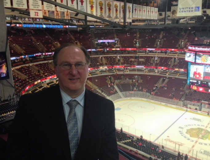 Announcer Ken Kal of the Detroit Red Wings