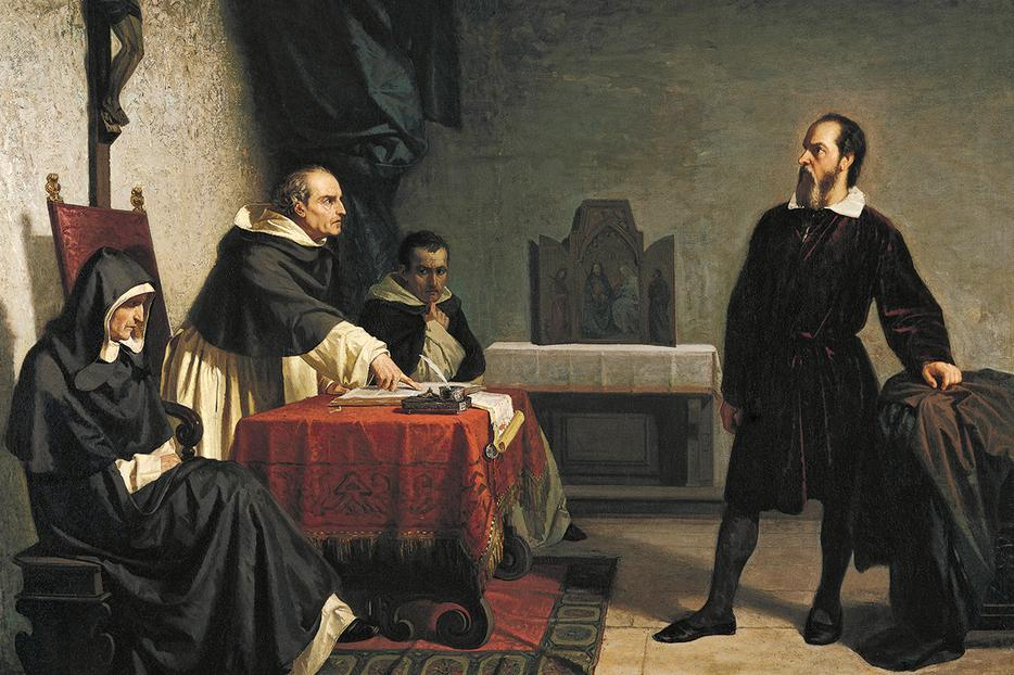 "Cristiano Banti, ""Galileo Facing the Roman Inquisition,"" 1857"