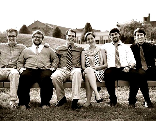From left, Marc Barnes, Joseph Antoniello, Emilio Marquez, Samantha McCoy, Patrick Walters and Matthew Seal of The Harmonium Project.