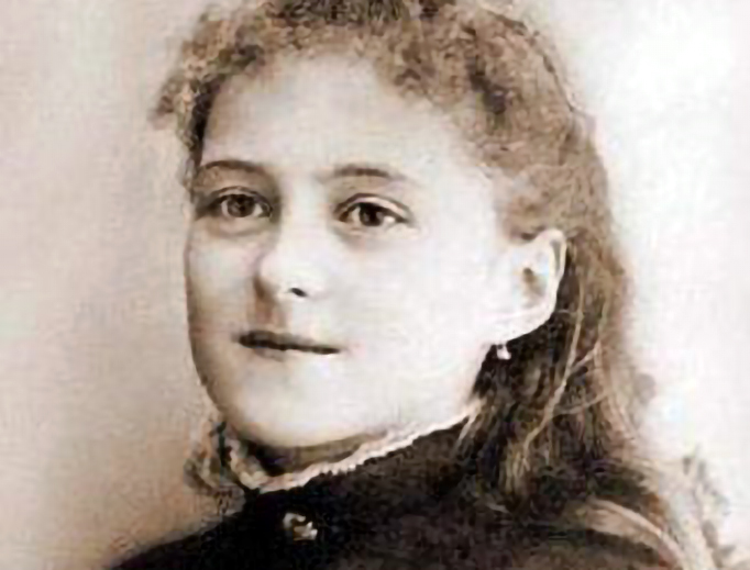St. Thérèse of Lisieux in 1886, when she was 13 years old.