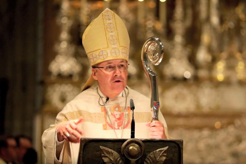 Bishop Rudolf Voderholzer, speaking in Regensburg cathedral.