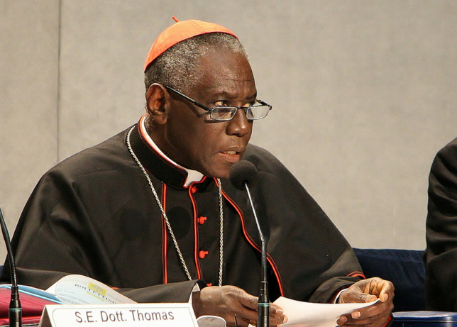 Cardinal Robert Sarah, prefect of the Congregation for Divine Worship.