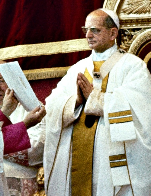 Pope Paul VI proclaims the last decrees of the Second Vatican Ecumenical Council in St. Peter's Basilica on Dec. 7, 1965.