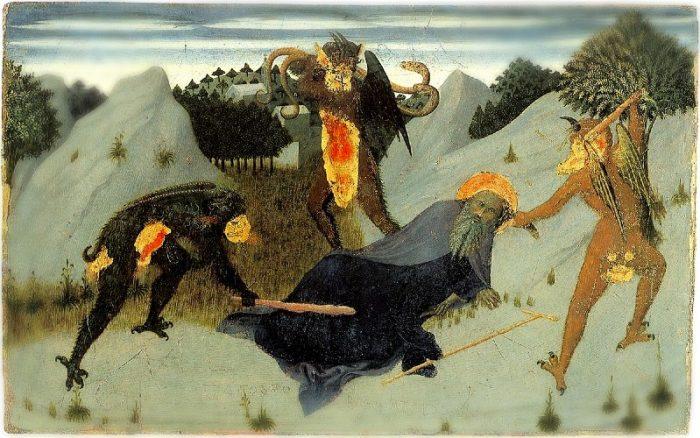 St. Anthony Beaten By Devils (Source: Public Domain via ChurchPOP)