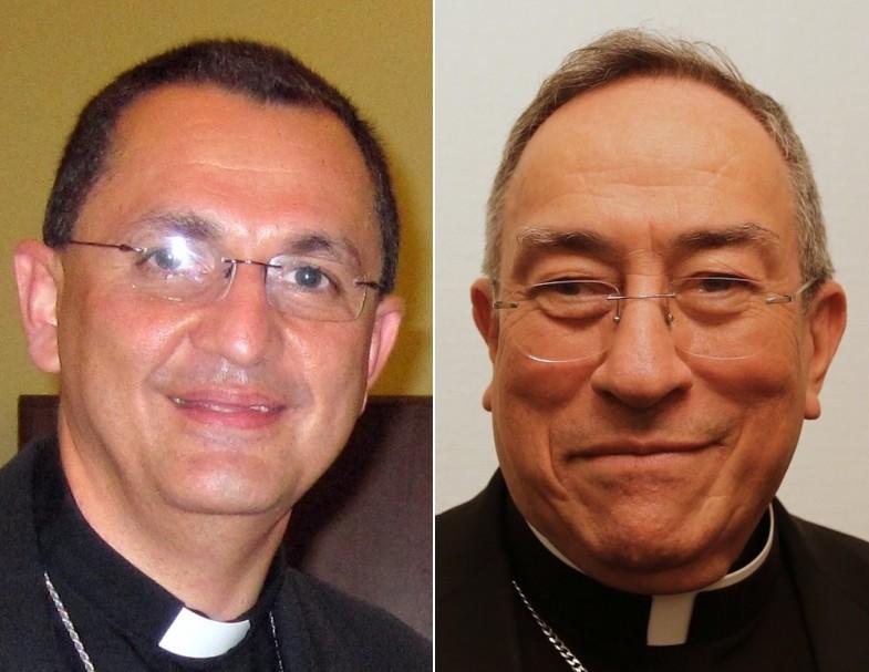 Bishop Jose Pineda and Cardinal Oscar Rodriguez Maradiaga.