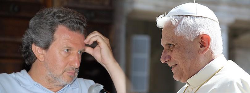 Piergiorgio Odifreddi and Benedict XVI.
