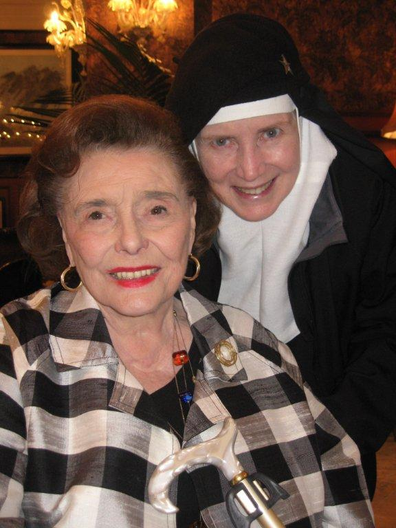 Actress Patricia Neal and Mother Dolores Hart (photo courtesy of Barbara Middleton).