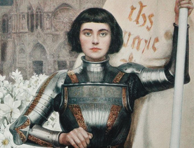 Above, this 1903 engraving of St. Joan of Arc by Albert Lynch was featured in Figaro Illustre magazine.