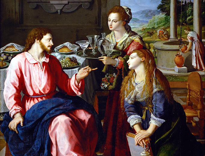 """Alessandro Allori, """"Christ at the House of Martha and Mary"""", 1605"""
